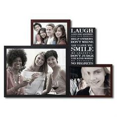 PF0042  3 Openings Inspirational photo frame