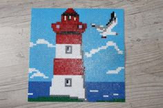 Image result for lighthouse perler