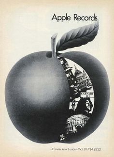 Apple Records promo with address.