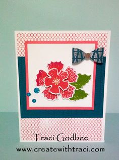 Create with Traci: September Stamp of the Month: Paper Garden