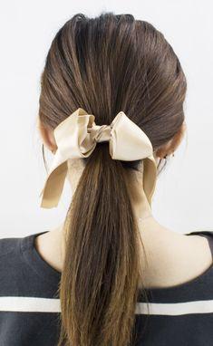 Elastic Hair Ties, Ribbon Hair Bows, Everyday Look, Hair Band, Hair Accessories, Satin, Stylish, Beauty, Beautiful