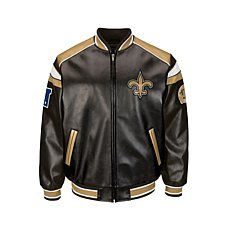 NFL Faux Leather Varsity Jacket