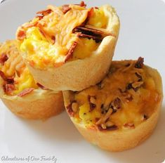 Bacon, Egg, and Cheese Breakfast Cups. These flavorful morsels are so quick and easy to make for a weekend brunch.