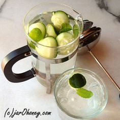 cucumber mint french press water