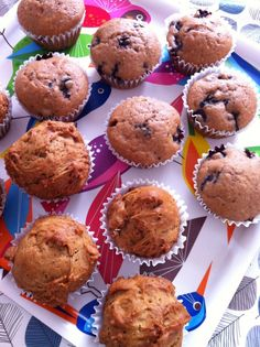 blueberry muffins. I think that I would add bananas in this recipe.