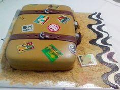 Something Sweet by SM - Vintage Travel Bag Cake