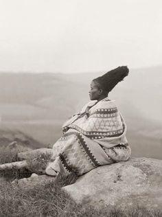 A Zulu woman in the 1900's.  Photo by AM Duggan-Cronin.