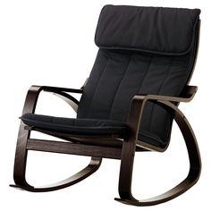 IKEA - POÄNG Rocking chair black-brown, Ransta black