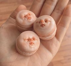 Disturbing Polymer Clay Macarons With Baby Faces