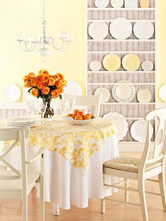 dining room - covered table