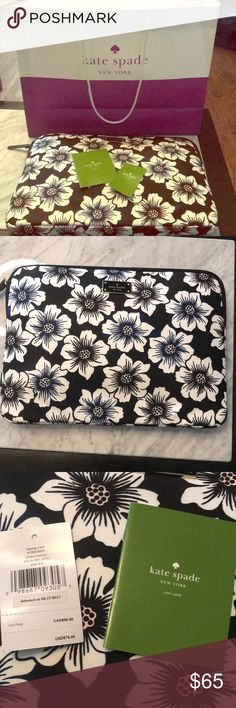 """NWT Kate Spade Laptop Sleeve Brand new Kate Spade laptop sleeve case from the Blake avenue collection. No flaws or defects; it's just too big for my 12"""" MacBook. It would fit a standard size MacBook or other laptop. kate spade Bags Laptop Bags"""
