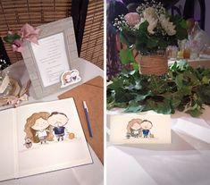 Esküvői meghívó egyedi illusztrációval - Színes emlék Rólatok Container, Photoshop