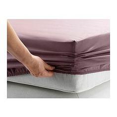 Para 2do Cuarto // IKEA - GÄSPA, Sábana bajera ajustable, 90x200 cm, , La ropa de cama de satén de algodón es muy suave y agradable, y tiene un brillo que le da un aspecto muy bonito.La ropa de cama de algodón cepillado tiene una textura lisa y un tacto suave.