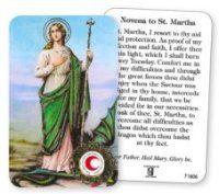 Saint Martha Prayer Card with Relic. Saint Martha, Saint Christopher, Prayer Cards, St Francis, All Saints, Prayers, All Saints Day, Beans, Saint Francis
