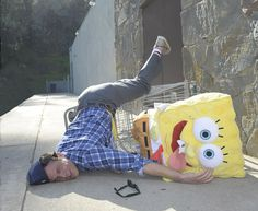 Johnny Knoxville with SpongeBob!