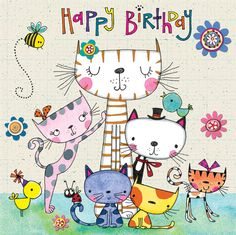Happy Birthday to a Cat lover. - Happy Birthday to a Cat lover. Birthday Wishes Greetings, Happy Birthday Messages, Happy Birthday Quotes, Birthday Greeting Cards, Birthday Images For Facebook, Happy Birthday Pictures, Cat Birthday, Birthdays, Service Quotes