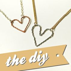 Quiet Lion Creations: UO Wire Heart Necklace/Bracelet Tutorial.  Use 2 colors of wire?  Silver & blue, silver & copper, gold & green?