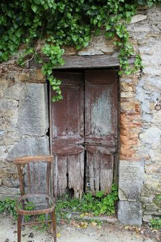 Doors of the old chestnut drying house.