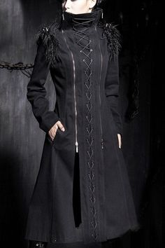 Equilibrium Corseted Coat by Punk Rave | Ladies Gothic