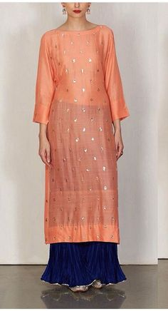 Peachy # sharara love # Indian fashion # lajjoo c