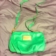 """Green Marc by Marc Jacobs """"New Q Percy"""" cross body Lovely green colored New Q Percy Marc Jacobs cross body! Gold hardware. Great going out purse! Marc by Marc Jacobs Bags Crossbody Bags"""