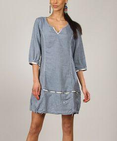 ab2e3415c1ac Another great find on  zulily! Blue Anais Shift Dress  zulilyfinds Dress  Making