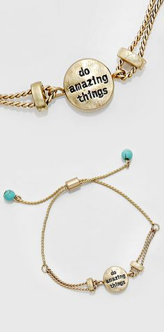 Do Amazing Things Bracelet. LOVE this for a #graduation gift!