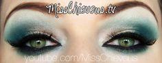 Haifa Wehbe arab makeup - check my website for a tutorial! my-work-misschievous-tv Julia Graf, Teal Makeup, Eyeliner, Eyeshadow, Eyebrows, Beauty Makeup, Face Makeup, Beauty Bible, Arabic Makeup