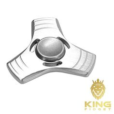KING-FIDGET-Fidget-Spinner-EDC-Toy-Premium-Titanium-Hand-Spinner-up-to-5min-High-Speed-Relieves-Stress-Reducer-Relieving-Stress-Focus-Anxiety-Relief-Killing-Time-and-ADHD-Silver