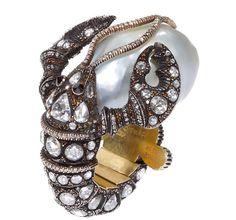 Sevan Bicakci pearl lobster ring