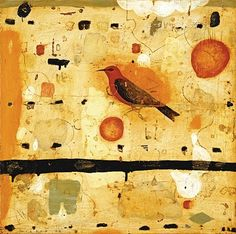 Nicholas Wilton Orange Tanager 2009 oil beeswax on panel 24x24