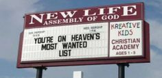 Church sign humor