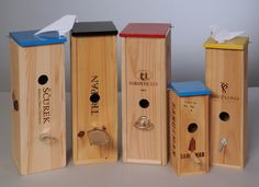 birdhouses out of wine boxes