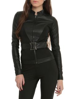 Marvel By Her Universe Black Widow Girls Belted Jacket,                                                                                                                                                     More