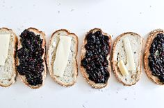 Grilled fontina & blackberry basil sandwich