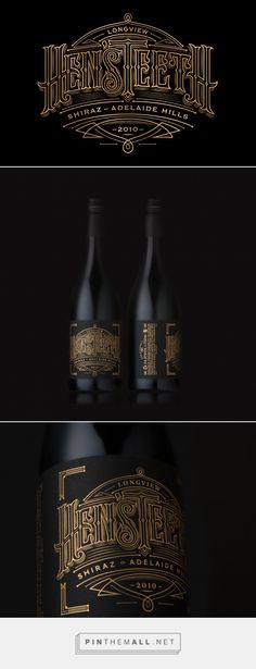 Hen'sTeeth Wine packaging design by Voice Design - http://www.packagingoftheworld.com/2016/11/hensteeth-wine.html