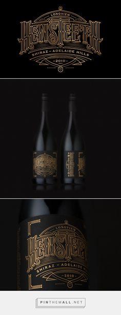 Hen'sTeeth Wine packaging design by Voice Design - http://www.packagingoftheworld.com/2016/11/hensteeth-wine.html