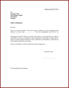 17 Best resignation letter images | Professional resignation letter ...