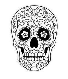 20 mexican skull black and white | Tube Tattoo