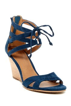 14th & Union - Carlie Strappy Wedge Heel at Nordstrom Rack. Free Shipping on orders over $100.