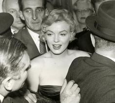 """Marilyn at the opening night of """"A View From The Bridge"""" at London's Comedy Theatre, October 12th 1956."""