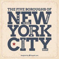 Vintage New York label