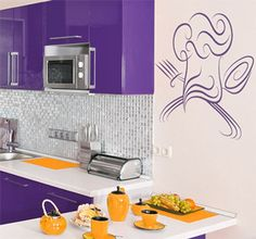 A really nice and elegant #wallsticker for your #kitchen! Available in different colours and sizes at #tenstickers