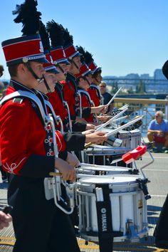 https://flic.kr/p/Co6aL6 | OCHS Drumline | High school Drum line marching in the Portland Rose Parade - June 2015