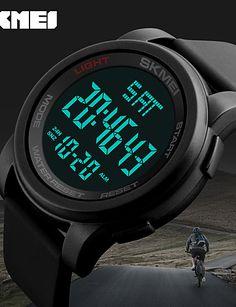 16.14  Pánské Sportovní hodinky Vojenské hodinky Inteligentní hodinky  Křemenný Digitální Silikon Vícebarevný 50 m Kalendář kreativita Cool  Digitální ... ed86b88e801