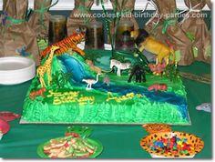 Angela's Safari Party Tale -Great, inexpensive safari party ideas. Lennon likes the cake.