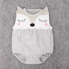 What does the fox say? Wear this romper. Easy, breezy sleeveless cotton with snap opening under legs. Runs small, please order one size up.http://bit.ly/2lIE5fJ