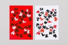 ひめくり オリジナルポストカード(猫) | homesickdesign