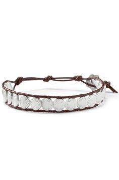 Silver & Leather Wrap Bracelet | Signature Scallop & Leather Bracelet | Stella & Dot