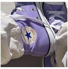Mode Converse, Purple Converse, Converse Sneakers, Colored Converse, Purple Shoes, Purple Nails, Dr Shoes, Girls Shoes, Fashion Shoes